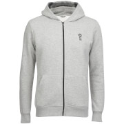 Jack & Jones Men's Core Naaron Zip Through Hoody - Light Grey Marl