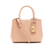 Lauren Ralph Lauren Womens Newbury Mini Double Zip Satchel  Camel