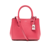 Lauren Ralph Lauren Womens Newbury Mini Double Zip Satchel  Rouge