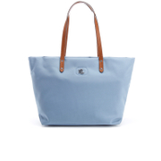 Lauren Ralph Lauren Womens Bainbridge Nylon Tote Bag  Blue Mist