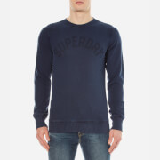 Superdry Men's Solo Sport Crew Neck Jumper - Rich Navy
