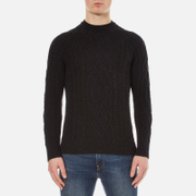 Superdry Men's Newfoundland Crew Neck Jumper - Dark Charcoal Nep
