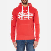 Superdry Men's Vintage Logo Hoody - Soda Pop Red