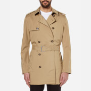 Michael Kors Men's Nylon Trench Coat - Khaki
