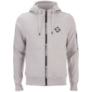 Crosshatch Herren Elsrik Zip Through Hoody - Mid Grey Marl