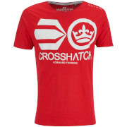 Crosshatch Herren Jomei T-Shirt - Barbados Cherry