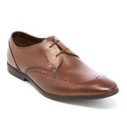Clarks Men's Bampton Limit Leather Derby Shoes - Tan