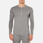 Paul Smith Men's Long Sleeve Cotton Henley Top - Grey