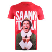 Elf Men's Santa T-Shirt - Red