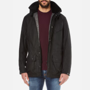 Barbour International Mens Onyx Wax Jacket  Black  M