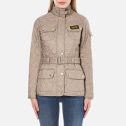 Barbour International Womens Quilt Jacket  Taupe Pearl  UK 8