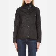 Barbour International Womens Atomizer Wax Jacket  Black  MUK 12
