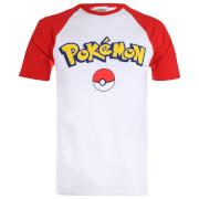 Pokemon Men's Logo Contrast T-Shirt - White/Red