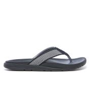 UGG Mens Tenoch Hyperweave Treadlite Toe Post Sandals  Black  UK 11