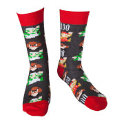 Mario Pixel Art - Crew Socks