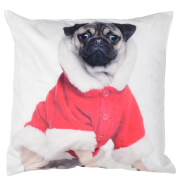 Bark & Blossom Dog Santa Print Cushion