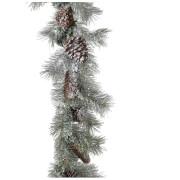 Bark & Blossom Snowy Pine Needle Cones Garland
