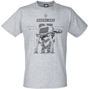 Star Wars Rogue One Men's Imperial Walker T-Shirt - Grey