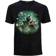T-Shirt Star Wars Rogue One Group Battle - Noir
