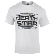 T-Shirt Star Wars Rogue One l'Étoile de la Mort Logo - Blanc
