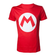 Super Mario M Logo T-Shirt - Red (XL)