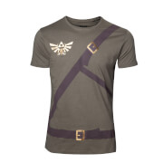 The Legend Of Zelda Link's Belts T-Shirt - Khaki