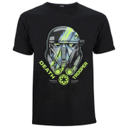 Star Wars: Rogue One Mens Death Trooper Head T-Shirt - Zwart