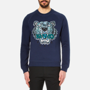 KENZO Men's Snake X Tiger Embroidery Sweatshirt - Navy