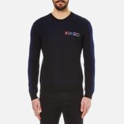 KENZO Mens Embroidered Logo Rib Knitted Jumper  Black  L