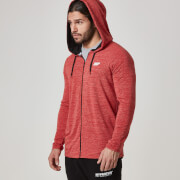 Męska rozpinana bluza z kapturem Myprotein  – Czerwona