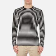 Folk Men's Long Sleeve Stripe T-Shirt - Grey