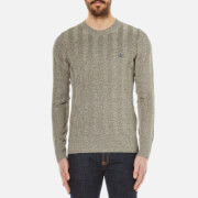 Vivienne Westwood MAN Mens Linen Crew Neck Knitted Jumper  Beige Melange  S