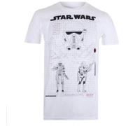 Star Wars Rogue One Men's Death Trooper Schematic T-Shirt - White