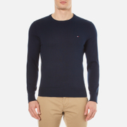 Tommy Hilfiger Men's Prime Cotton Crew Neck Knitted Jumper - Navy Blazer
