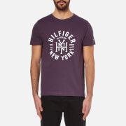 Tommy Hilfiger Men's Maddock Printed Crew Neck T-Shirt - Sweet Grape