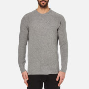 Barbour Men's Bolmen Crew Knitted Jumper - Mid Grey Marl