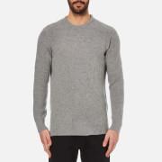 Barbour Men's Bolmen Crew Knitted Jumper - Mid Grey Marl