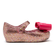 Mini Melissa Toddlers' Ultragirl Bow Glitter Ballet Flats - Pink