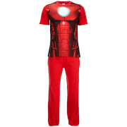 Marvel Mannen Iron Man Pyjama Set - Rood
