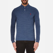 Polo Ralph Lauren Mens Custom Fit Long Sleeve Polo Shirt  Classic Royal Heather  L