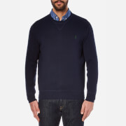 Polo Ralph Lauren Mens Long Sleeve Knit Jumper  Hunter Navy  L