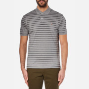 Polo Ralph Lauren Mens Stripe Polo Shirt  Winter Grey HeatherFrench Navy  XXL