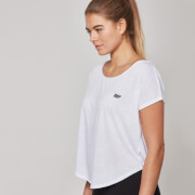 Myprotein Core Scoop Hem T-Shirt til kvinder  - Hvid