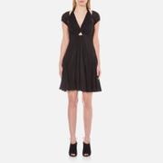 Alexander Wang Womens Short ALine Dress with Gathered Sleeves  Matrix  US 4UK 8