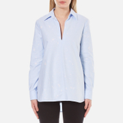 Alexander Wang Women's A-Line Tunic Shirt - Pacific - US 2/UK 6 - Blue