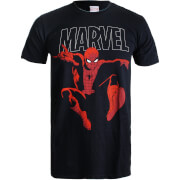 Marvel Boys' Spider-Man Strike Heren T-Shirt - Zwart