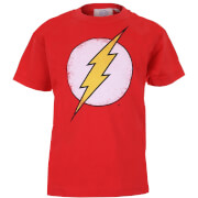 DC Comics Boys' The Flash Distress Logo T-Shirt - Red