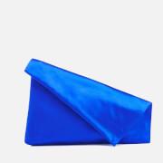Diane von Furstenberg Women's Satin Asymmetric Foldover Clutch Bag - Cobalt