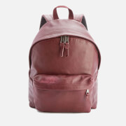 Eastpak Padded Pak'r Leather Backpack - Oxblood