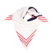 KENZO Silk Painted Logo Square Scarf - White